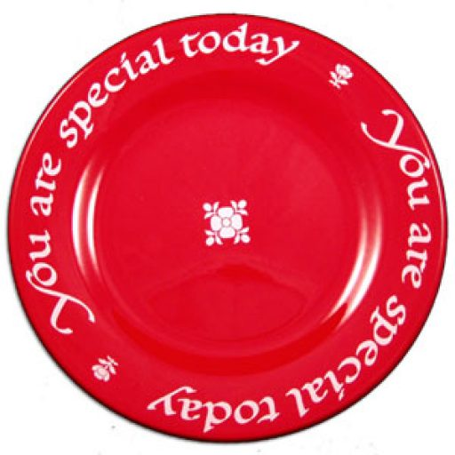 Original You Are Special Red Plate
