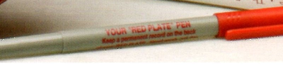 Replacement Pen for Red Plate