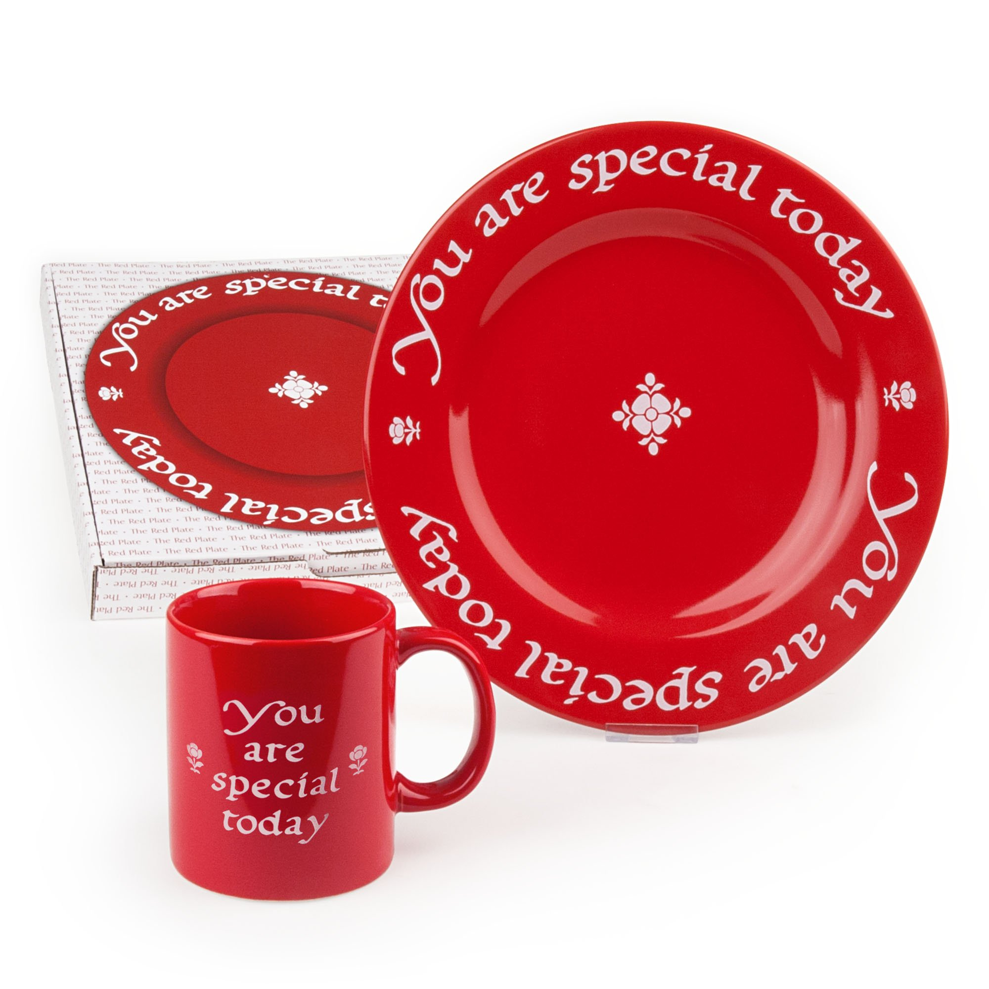 Red plate and matching mug  sc 1 st  Red Plate Store & Gold Wrapped Plate and Mug Combo - Red Plate Store